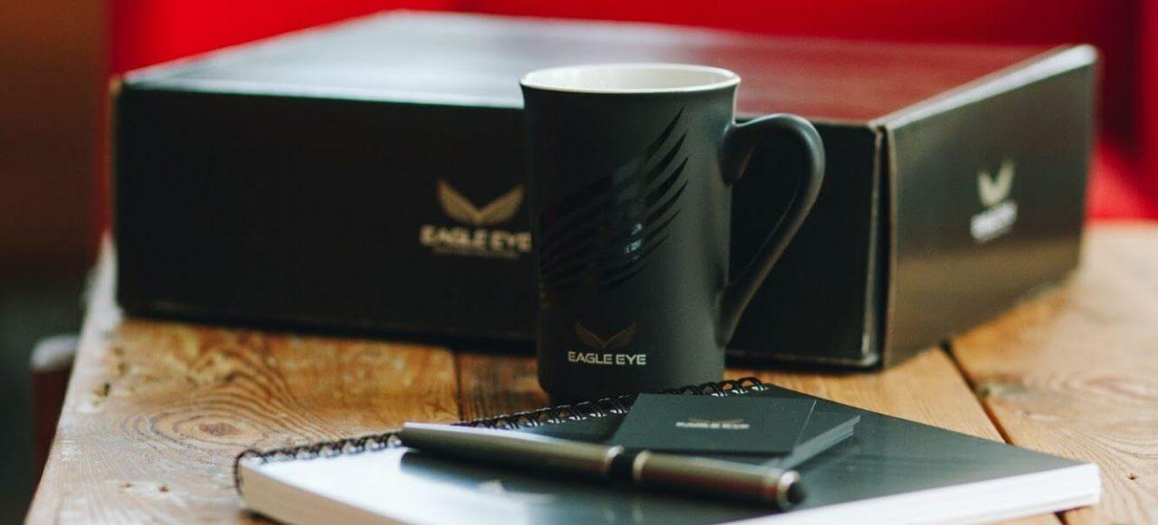 Kubek, zeszyt, długopis, wizytówki, karton Eagle Eye Staffing Solutions