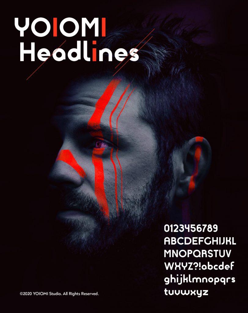 YOIOMI Headlines font Poster 2020
